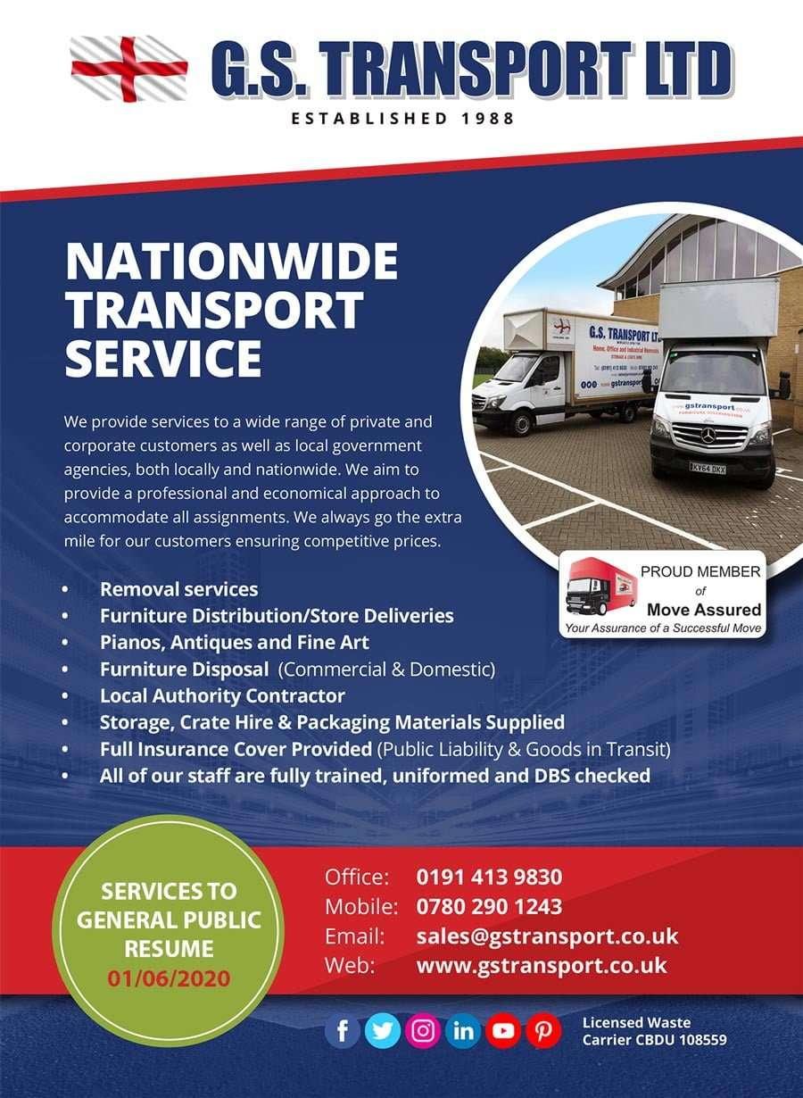 G S Transport services information