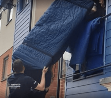 Furniture delivery or removal in action
