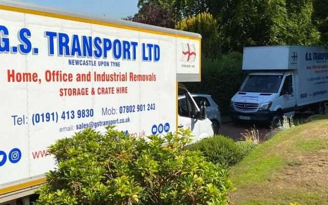 Removal vans in Gateshead